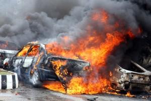 File Photo: Gombe presidential rally Car-Bomb-Blast in 2014