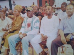 From left, Jerry Okorodudu and wife, Joe Lasisi, Barrister Kabiru Olagunju and Bernie Grant at the Gotv Boxing Night in Lagos