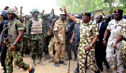 Jonathan visits recaptured Adamawa towns from Boko Haram