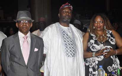 L-R;Emeka Ugwu-Oju,Albert Okumagba and Claudine Moore of Heirs Holdings..At the Vanguard Personality of the year Award 2014.PHOTO;AKEEM SALAU