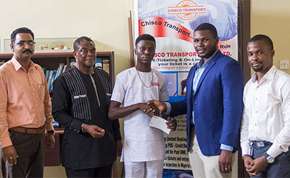 From From left; Devendra Jagtap (Group Human Resources Manager), Sir Moses Chukwuka (S. A. To Chairman – CHISCO Group), Clem Ogus (Rookie for November), Obinna Anyaegbu (Group Business Development Manager), 'Damola Olofinlua (Managing Editor, Vanguard Spark)