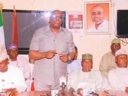 •APC senators addressing a press conference