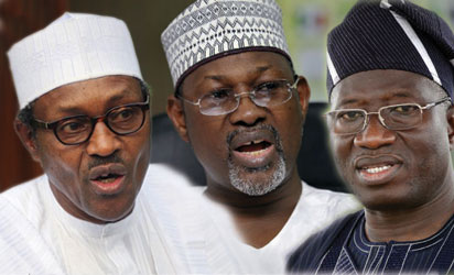 Buhari, Jega and Jonatrhan