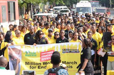 • Towards ending the pain of Endometriosis among women in Nigeria and the world at large, a walk tagged EndoMarch 2015, held in Lagos weekend.