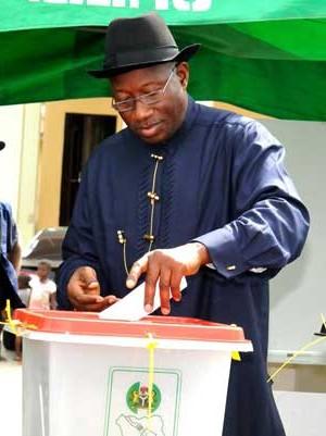 Jonathan casting his vote
