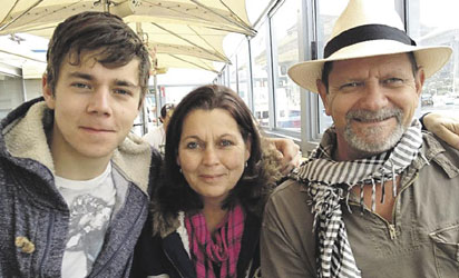 Leon Lotz, his wife, Almari, and their son, Leon Jr. Lotz sr. is this week in the fight against Boko Haram killed.