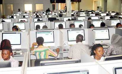 PIC. 2. CANDIDATES WRITING UNIFIED TERTIARY MATRICULATION EXAMINATION   (UTME) IN ABUJA ON TUESDAY (10/3/15). 1256/10/3/2015/HF/BJO/CH/AIN/NAN
