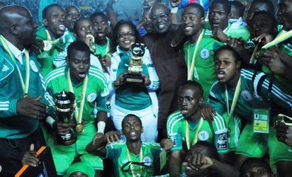 AFRICAN CHAMPIONS: F/Eagles celebrate their victory