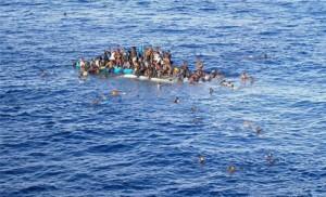 African migrants' 75 foot fishing boat capsized off Libya