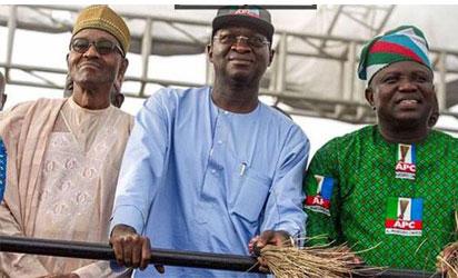Buhari, Fashola and Ambode