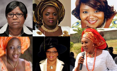 From top-left: Princess Inneh, Dr. Dickson, Mrs. Semenitari: Mrs. Imoke, Lady Ebe & Dr. Ashiedu