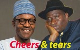 Muhammadu Buhari and Goodluck Jonathan
