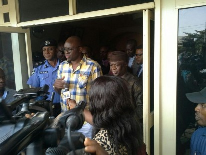 Fayose and Omirin after the meeting