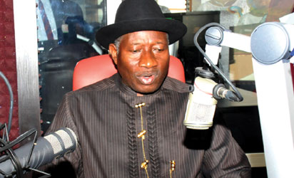 PRESIDENT JONATHAN INAUGURATES  ARMED FORCES RADIO STATION IN ABUJA