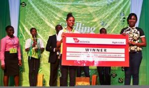 Spelling Bee 2015 Winner, Ohuabunwa Onyinyechi,