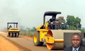 Reconstruction of Lagos-Ibadan express way... Contractors allege non-payment for completed projects (Inset): Mr. Solomon Ogunbusola, FOCI president.