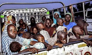 Cross section of children rescued by the Nigerian Army from the Boko Haram hideout in Sambisa Forest.