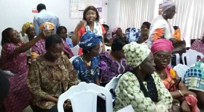 Cross section of breast cancer survivors during the June Support Group meeting of COPE in Lagos.