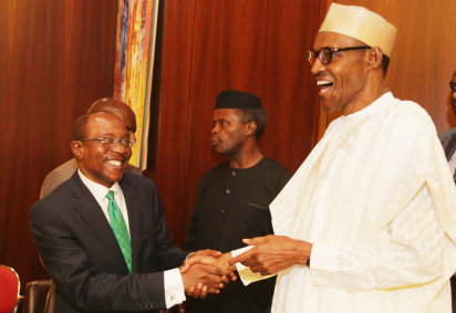 CBN Governor Emefiele and President Buhari
