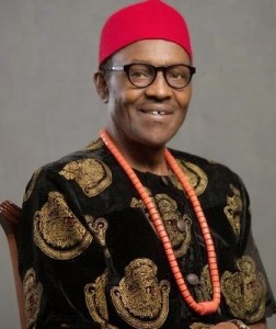 Buhari in Igbo attire
