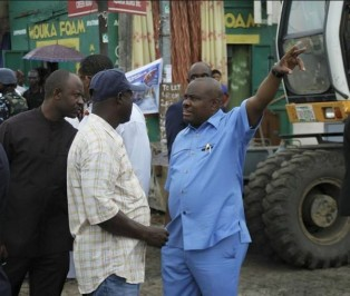 Wike-inspecting-a-road-project
