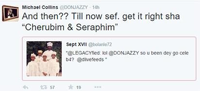 Don Jazzy's tweet
