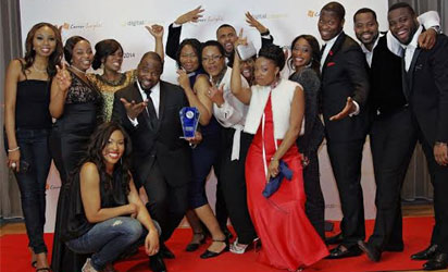 A cross section of the winners from the Digital Bananas Awards 2014.