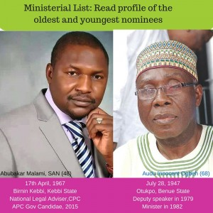 Ministerial List- Read profile of the oldest and youngest nominees
