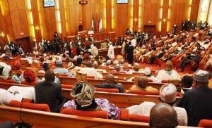 SENATE CHAMBER DURING THE INAUGURATION OF THE 8TH NATIONAL ASSEMBLY IN ABUJA ON TUESDAY (9/6/15).