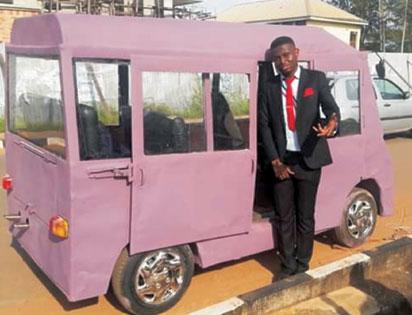 Unizik car: The mini bus.