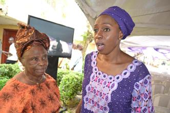 L-R;VP'S Mother,Mrs Olubisi Osibajo,and Mrs Oyedeji.DURING THE LAYING-IN STATE OF MAMA HID AWOLOWO AT PARK LANE,APAPA,LAGOS.PHOTO BY AKEEM SALAU
