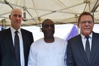 From right,Consulate General of United State of America,Mr F.John Bray;Mr Segun Awolowo ,Political/Economic Section Chief,Mr Thomas Hines. .DURING THE LAYING-IN STATE OF MAMA HID AWOLOWO AT PARK LANE,APAPA,LAGOS.PHOTO BY AKEEM SALAU