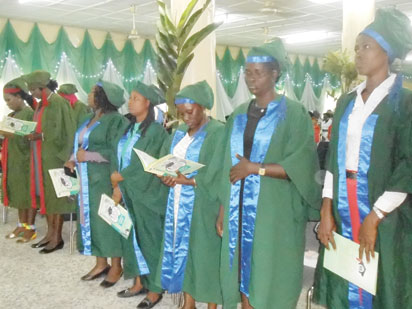 GRADUATION: Cross section of graduands during the joint graduation of two Schools of  the National Orthopaedic Hospital, Igbobi Lagos, NOHIL last week.