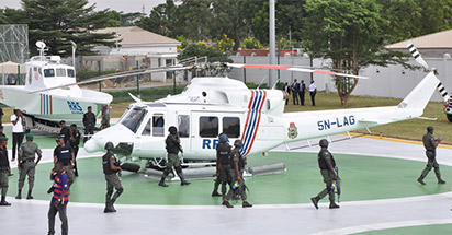 Patrol Helicopters and gunboats