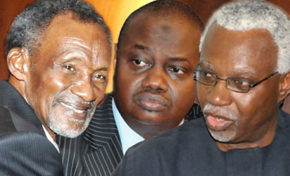 Chief Justice of Nigeria (CJN), Justice Mahmud Mohammed , EFCC Chairman Lamorde and Independent Corrupt Practices Commission (ICPC) chairman, Mr. Ekpo Nta.