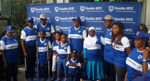"PRESENTATION : From left-ý Lekan Adekoya (with crutches); Ayoifeoluwa Ayodele ; Isaac Joseph-Osumah; Wife of Lagos state Governor, Mrs Bolanle Ambode ; Semilore Kosoko ; Basirat Adam; CEO, Stanbic IBTC Group , Mrs. Shola David-Borha and Executive Director, Irede Foundation, Chrystal Chigbu, during the ""Out For A Living "" initiative  of Stanbic IBTC Group held in Lagos over the weekend."