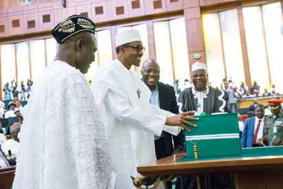 Buhari presents N6.08trn 2016 budget to NASS