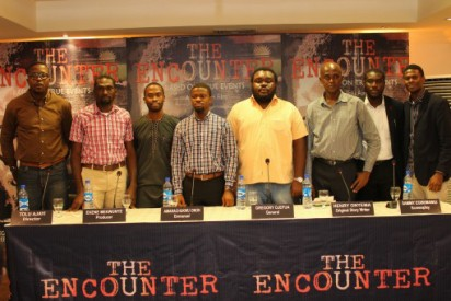 Tolu Ajayi, Ekene Mekwunye, Tunwa Aderinokun, Amarachukwu Onoh, Gregory Ojefua, Henry Onyema, Uche Okocha & Samuel Egbemawei at the briefing