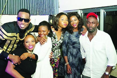 Idris Iba, D'banj and Genny at the after party