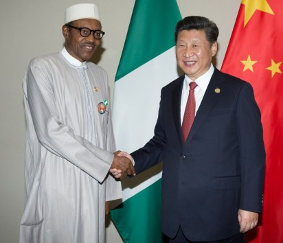 President Buhari in a Bilateral Meeting with H.E. XI Jinping, President, People's Republic of China at the sidelines of the Johannesburg Summit of Forum on China-Africa Cooperation in