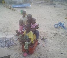 •Some of the homeless children