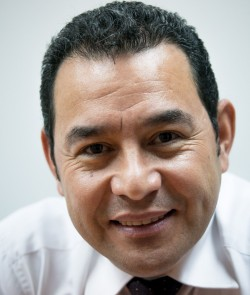 Jimmy Morales, a former TV comic now president