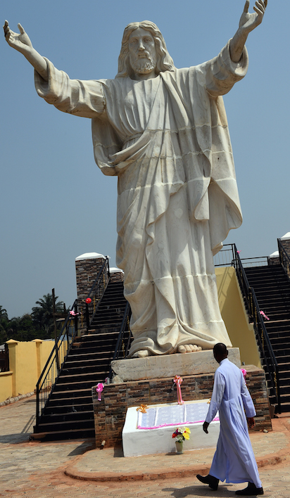 """Jesus de Greatest"" statue weighs in at 40 tonnes."