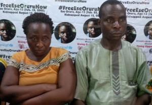 Rose and Charles Oruru, parents of Ese.