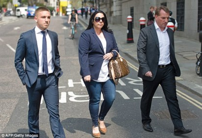 Rodgers divorced his wife of 14 years, Susan (centre), in December but is now engaged just 68 days later