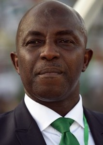 Nigeria's national football team head coach Samson Siasia during the African Cup of Nations qualification match between Egypt and Nigeria, on March 25, 2016, in Kaduna.