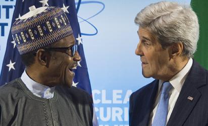 US Secretary of State John Kerry and Nigerian President Muhammadu Buhari
