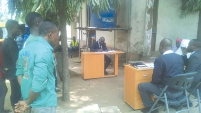 *A court session for traffic offenders