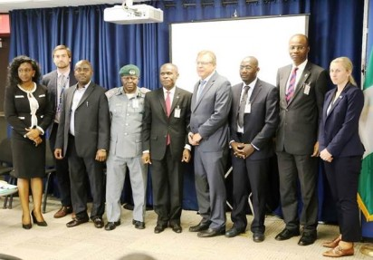 U.S. Consul General, John Bray, (fourth right); USAID West Africa Biodiversity Specialist, Michael Balinga, (third right); Director General,  Nigerian Conservation Foundation (NCF), Mr. Adeniyi Karunwi (second right),and other panelists, during a program to mark the 2016 World Wildlife Day program in Lagos... Recently                                                                                                   Photo: U.S. Consulate General Lagos.