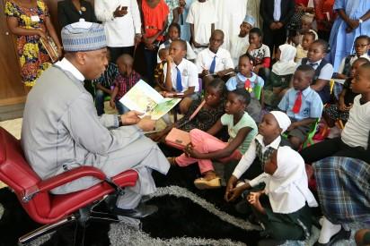 Saraki reads 'Ngozi comes to town'